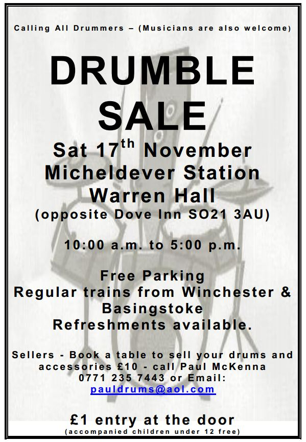 Poster for Drumble Sale 15th November 2012